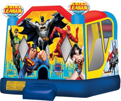 Justice league Batman Superman Flash Wonder woman Bounce House Rental Boca Grande, Bonita Springs FLorida